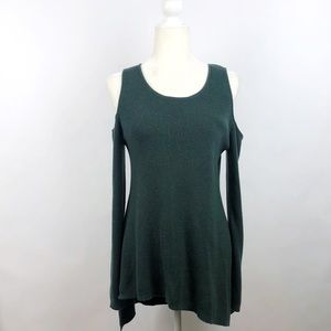 NY&CO Forest Green Tunic Sweater Large